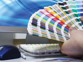 Graphic design and production of printed labels all under one roof